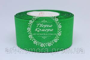 Репсовая лента 4 см, зеленая №19
