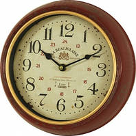Часы, Ретро, металл, стекло, D25 см
