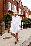 Льняное платье, туника пляжное легкой свободного кроя, размеры до очень большого, цвета разные