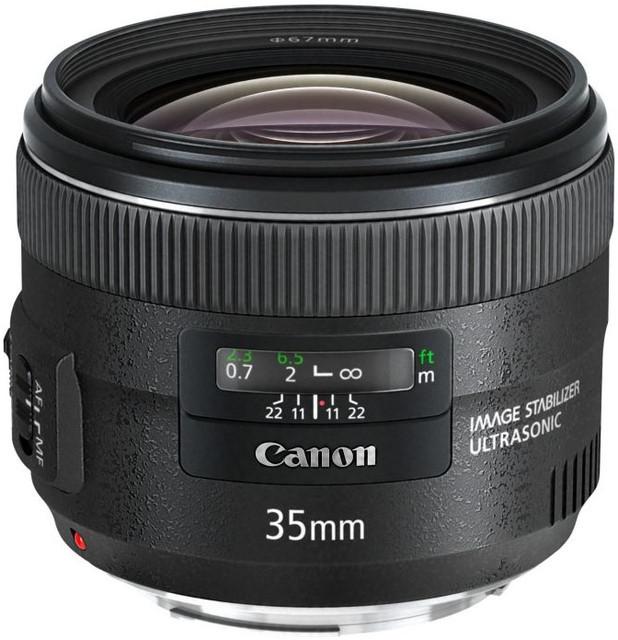 Об'єднання єктив Canon EF 35mm f/2 IS USM