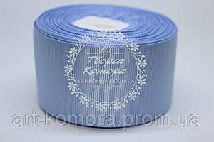 Репсовая лента 4 см, голубая