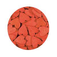 """Посыпка """"Сердечки красные (большие 1 см.)"""", 25 гр."""
