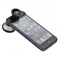 Универсальные линзы 4 в 1 для iPhone 5 FWSM-5 чёрно-красные