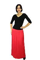 Длинная юбка кораллового цвета, фото 1