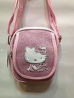 "Сумка детская ""Hello Kitty""блестящая через плечо"