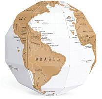 Скретч - карта мира в форме глобуса