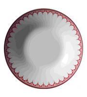 """Набор 6 суповых тарелок """"Вышиванка красный ромб"""" Ø20.5см"""