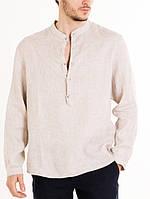 Большой размер рубашка льняная, некрашеный лен. Натуральный 100% лен, размеры полномерные размеры по