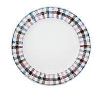 "Набор 8 тарелок ""Английская клетка"" Ø19.5см, керамика"