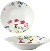 """Набор 6 суповых тарелок """"Розовый цветок"""" Ø20см, керамика"""
