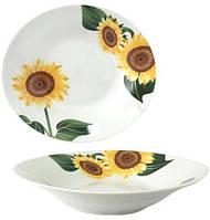 "Набор 6 суповых тарелок ""Подсолнухи"" Ø20см, керамика"
