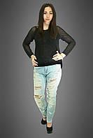 Женские джинсы, цвет: светло-голубой, фото 1