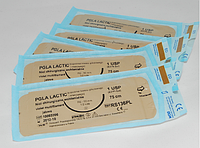 Хирургический шовный материал PGA Lactic 0 USP колюще-режущая 40 мм 1/2