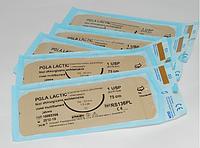 Хирургический шовный материал PGA Lactic 4/0 USP режущая 16 мм 3/8