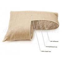 Льняная подушка со льном70х70