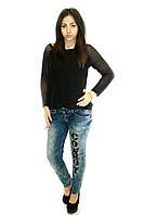 Брендовые женские джинсы с завышенной талией