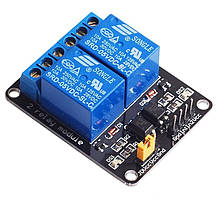 Модуль реле 2-х-канальный для Arduino 5V 2-Channel Relay с опторазвязкой