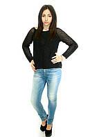 Женские джинсы с потертостями