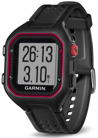 Смарт-годинник Garmin Forerunner 25 Black/Red, фото 2