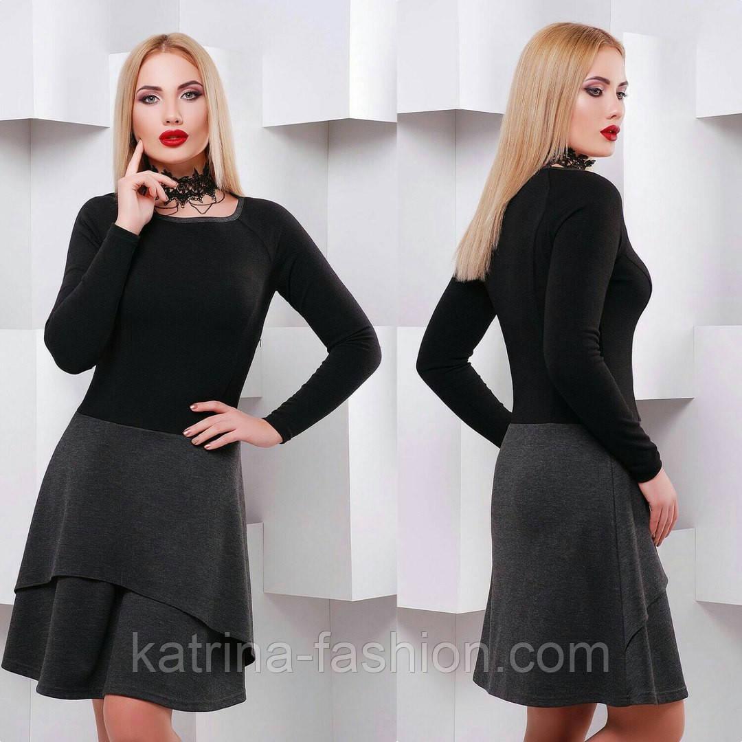 5b5ad28fabde Женское модное двухцветное платье с воланом (4 цвета)  продажа, цена ...