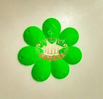 Пришивная акриловая капля Neon Green 13х18mm*1шт