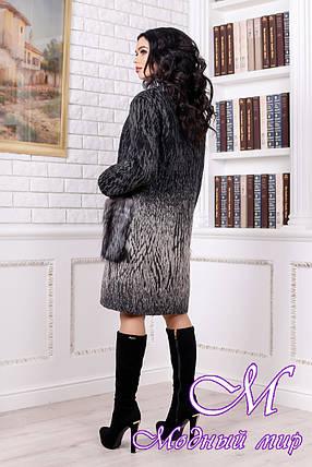 Женское меховое зимнее пальто бежевого цвета (р. 44-58) арт. 996 Тон 102, фото 2