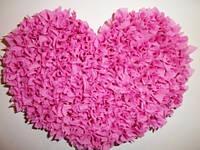 Сердце объемное розовое №3