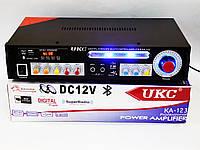 Усилитель звука UKC KA-123 BT 2*150 + КАРАОКЕ