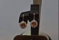 Серебряные серьги с накладками золота - Сияние глаз