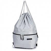 Рюкзак сумка мішок для змінного взуття сірий міської спереду чотири накладних кишені Dolly 832, фото 1