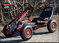 Педальный Карт Bambi надувные колеса Формула 01красный