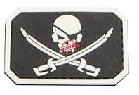 """Шеврон ПВХ """"Пират Скул"""" (Black, Coyot, White), фото 1"""