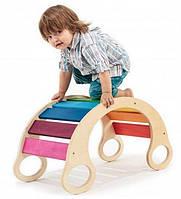 Детская кресло качалка мостик из дерева (Эко технология) 7 в 1