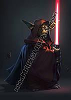 Картина 40х60см Звездные войны Герой с мечем