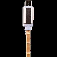 Кабель USB - micro USB  1м W (кожа) белый  / Retail