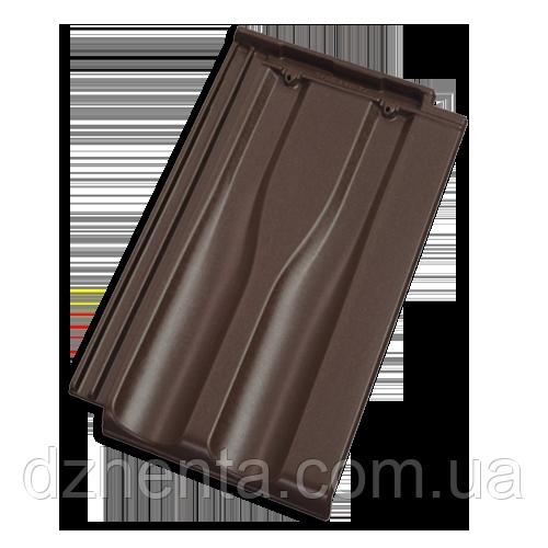 Керамическая черепица TONDACH Границе 11 коричневая ангоба
