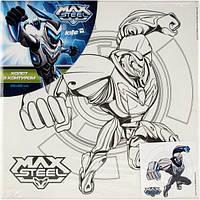 Холст для рисования с контуром Max Steel (Макс Стил)  25х25 см