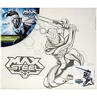 Холст для рисования с контуром Max Steel (Макс Стил)  25х30 см
