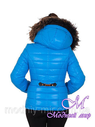 Женская голубая зимняя короткая куртка (р. 42-56) арт. Наоми, фото 2