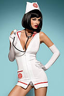 Игровой костюм Obsessive Emergency dress со стетоскопом