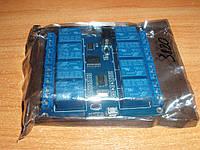 Реле 5В 8-канальный Micro USB модуль управление нагрузкой по USB + RS232 Rx Tx 5V PL2303