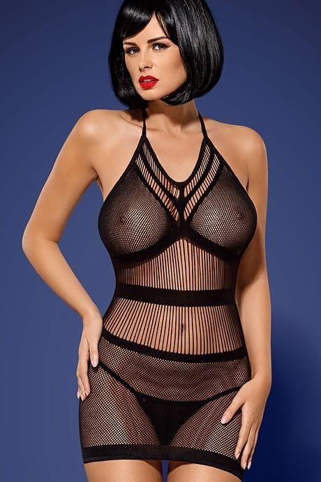 Платье-сетка Obsessive D115 Черный