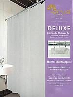 Шторки в ванную комнату 180х180,  Arya Valerie однотонная белая