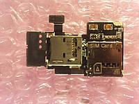 Samsung GT-i9500 шлейф карт памяти и SIM ОРИГИНАЛ Б/У