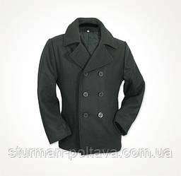 Бушлат чоловічий морської US Pea Coat колір чорний MFH Німеччина розмір M