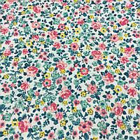 Ткань с мелкими голубыми и розовыми цветочками, фото 1