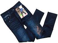 Лосины термо со стразами под джинс на махре Алия №4
