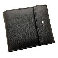 Мужской кошелек Dr. Bond из натуральной кожи. Портмоне мужское. Черный цвет.