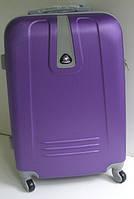 Чемодан дорожный на колесах пластиковый: средний фиолетовый 60 см