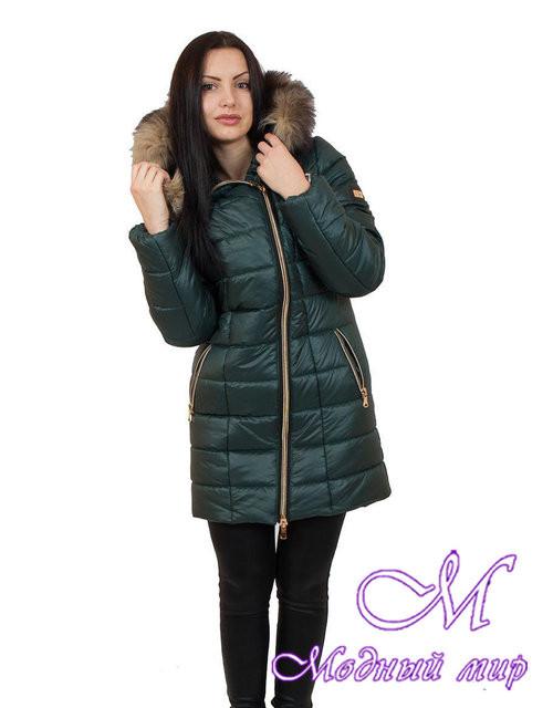 Женская удлиненная зимняя куртка большого размера (р. 42-56) арт. Наоми удлиненная